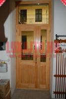 Kétszárnyú, üveges bejárati ajtó Budapeset XXIII. kerület
