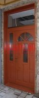Kétszárnyú, napsugár mintás bejárati ajtó Budapest I. kerület