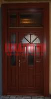 Kétszárnyú napsugár mintás bejárati ajtó Budapest 4. kerület