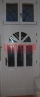 Napsugár mintás, üveges bejárati ajtó Budapest Józsefváros