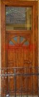 Napsugár mintás üveges bejárati ajtó Budapest X. kerület
