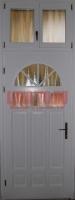 Fehér, napsugár mintás bejárati ajtó Budapest XVI. kerület