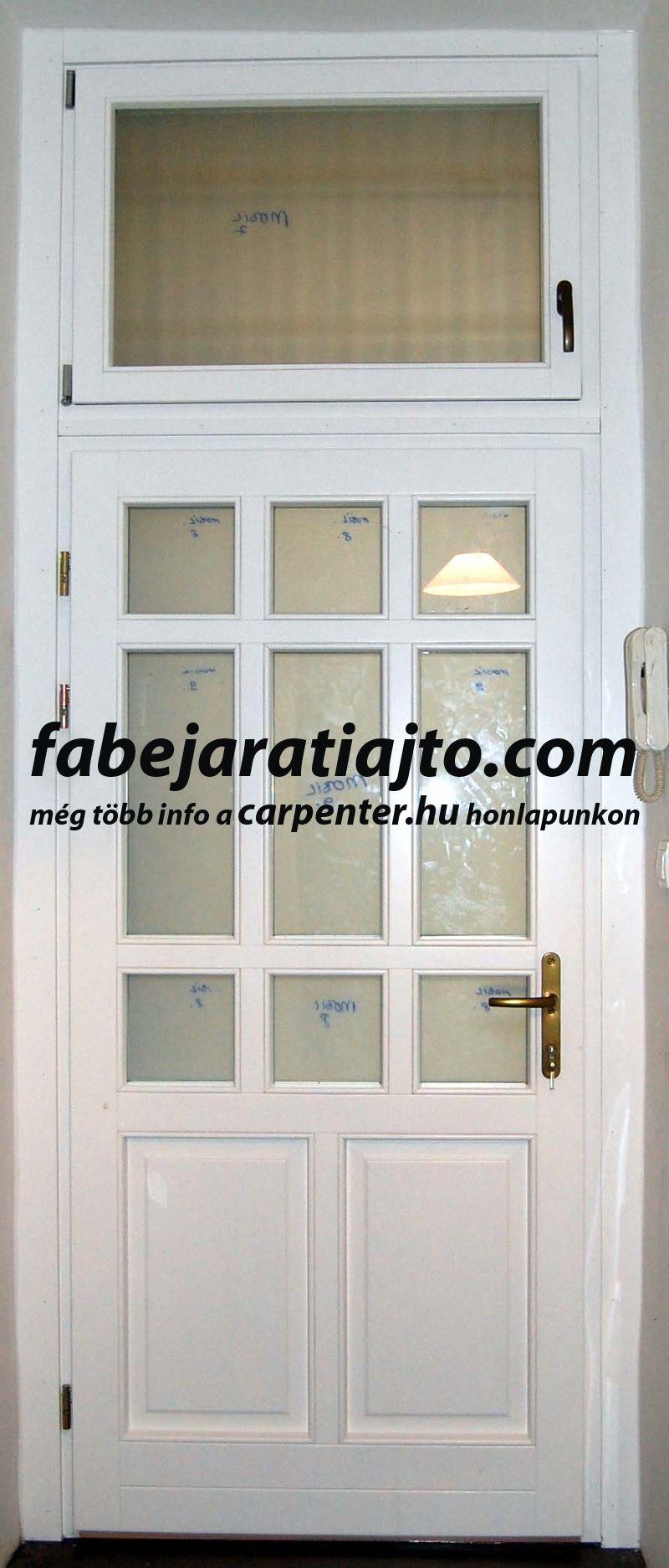 valódi osztós, tokráépítéses bejárati ajtó