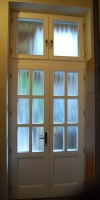 kétszárnyú fa bejárati ajtó a 7.kerületben
