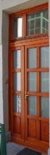 Üveges fa bejárati ajtó csere