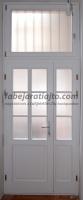 Fehér üveges bejárati ajtó csere